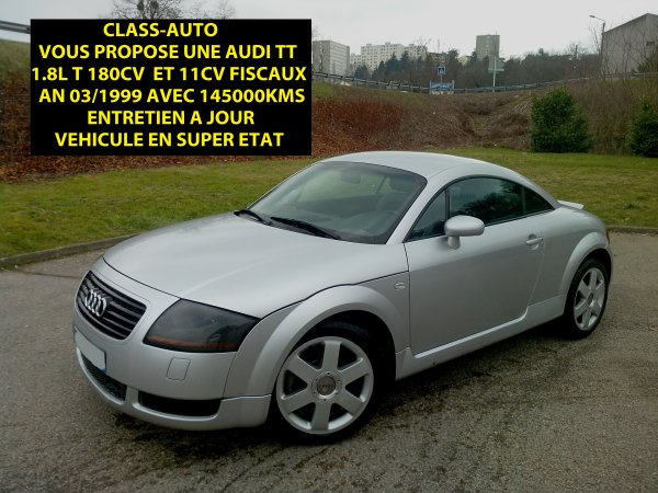 audi tt 180cv an 03 1999 145000kms r vis e vendu le 29 03 2013 class auto 69. Black Bedroom Furniture Sets. Home Design Ideas