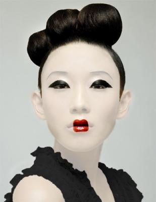 maquillage geisha retouche photo retouche creabar. Black Bedroom Furniture Sets. Home Design Ideas
