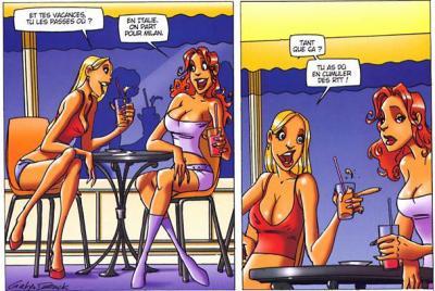 Fumer des bandes d'adolescent rousse chaude