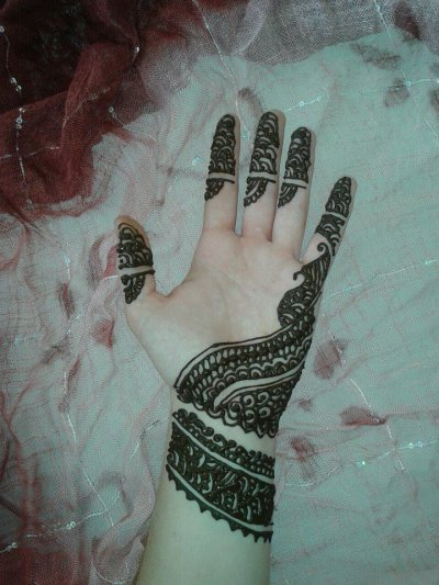 Henna naturel main motif simple et original 5 euros tatouages au henne - Henne simple main ...