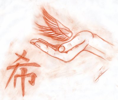 Dessin main et ailes d 39 ange a gw3 du 52 d3ssin3 - Ailes d ange dessin ...