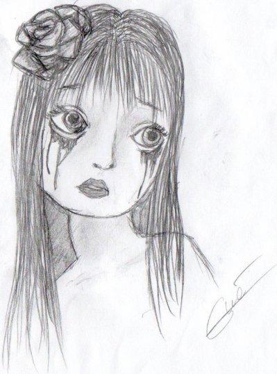 Dessin fillette triste a gw3 du 52 d3ssin3 - Dessin triste ...