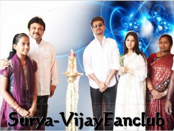 Surya And Vijay Stills Vijay launches appa family