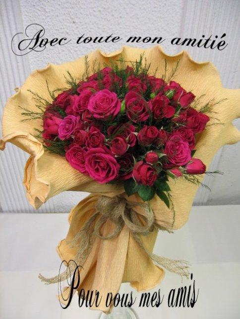 pour vous mes ami es ce joli bouquet de fleurs bisous tigre59112. Black Bedroom Furniture Sets. Home Design Ideas