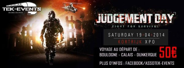 "Bus pour "" judgement day festival "" 19.04.14 !!"