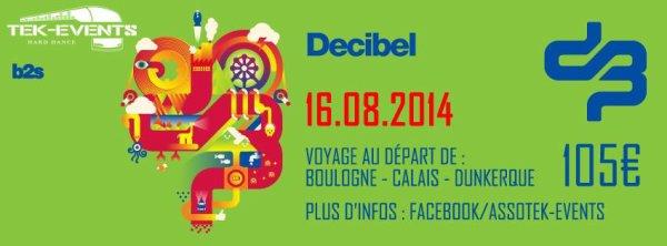 Bus pour Decibel - samedi 16 aout 2014