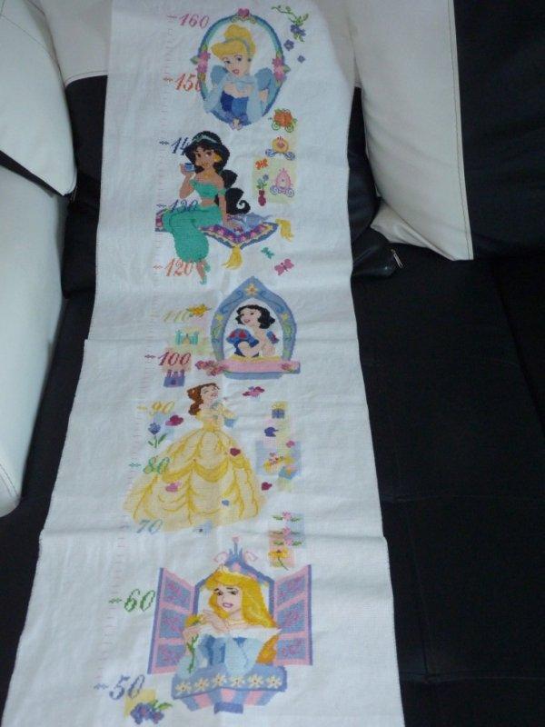 toise princesse disney - point de croix, couture, tricot,