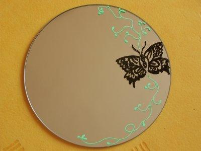 Autre cr ation 2 peinture sur miroir 1 artstattooraph for Ecrire comme dans un miroir