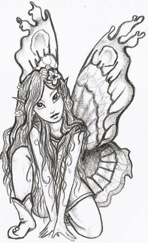 Tatoo elfe simplement moi - Dessin elfes et fees ...