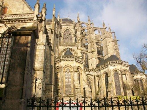 Le vieux mans sarthe 72 une des plus belle cathedrale de france une parti - Une cathedrale gothique ...