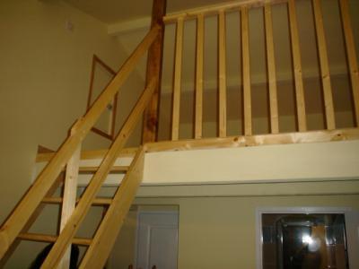 am nagement chambre mezzanine travaux habitat. Black Bedroom Furniture Sets. Home Design Ideas