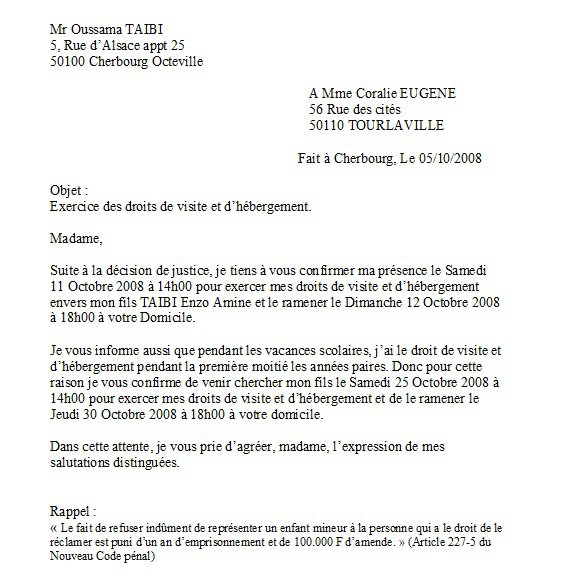 lettre recommand e avec ar adress e mme eug ne coralie 5 octobre 2008 objet du scandale. Black Bedroom Furniture Sets. Home Design Ideas