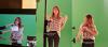 Martina Stoessel enregistrant une vid�o promotionnelle pour � Disney Channel � il y a peu.