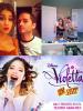 Tini se pr�parant avec le maquilleur Marcos Aranda pour aller au d�fil� de Rick Sarkany + Affiche du spectacle � Violetta En Vivo � en Argentine.