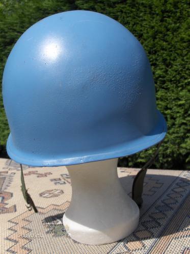 41  belgique - onu - casque belge mod u00e8le otan 51aux couleurs des nations-unies