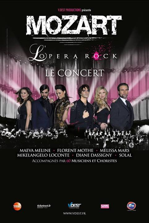 "2014 March 13 - Les dates de la tourn�e ""Mozart l'Opera Rock le concert"""