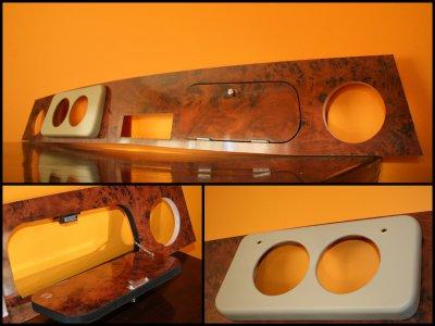 le tableau de bord mini mod le wood leather i. Black Bedroom Furniture Sets. Home Design Ideas