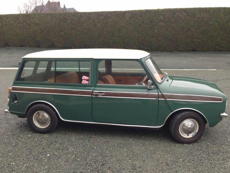 Le rendu de la conception vintage havane vert anglais pour la mini clubman de pierre antoine for Moquette anglais
