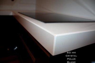 Bords de plan de travail crystal polar white granitset - Plan de travail epaisseur 60 mm ...
