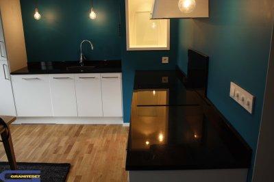 cuisine quip e de granit noir absolu granitset. Black Bedroom Furniture Sets. Home Design Ideas