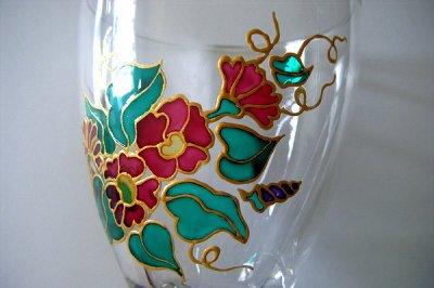 Un petit peu de peinture sur verre blog de isacreadeco - Peinture sur plateau en verre ...