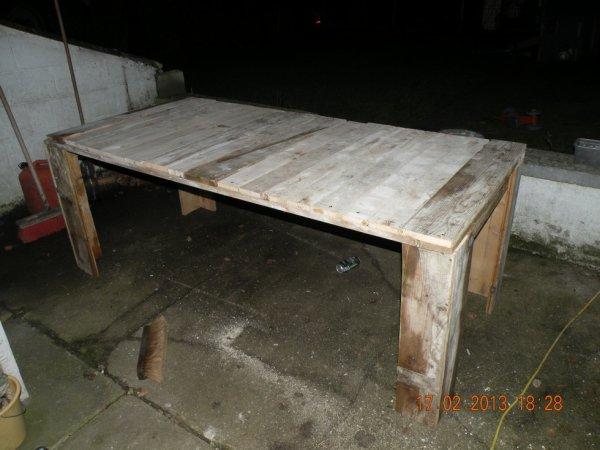 assemblage table en bois de recuperation  mes idées