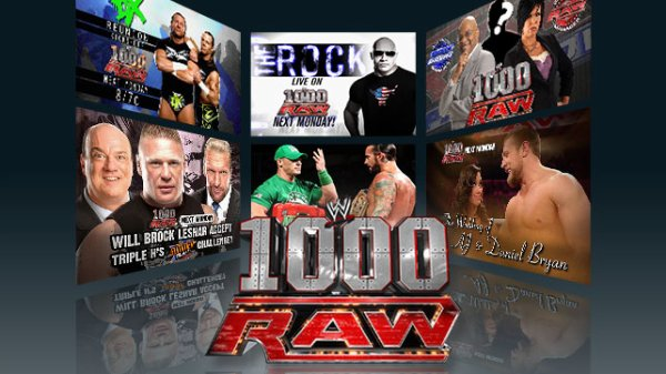 Monday night Raw 1000�me �pisode en live!