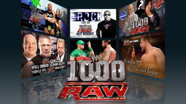 Monday night Raw 1000�me �pisode en live!