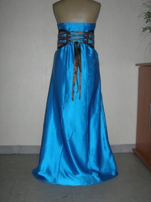 Robe bustier bleu turquoise et marron soniacaftan for Bleu turquoise et marron