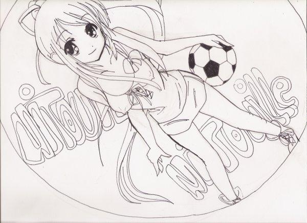 Une fille manga au foot rewind the memories - Dessin de manga fille ...