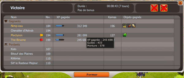 Obtention du dofus pourpre la mac team serveur kuri for Haute truche