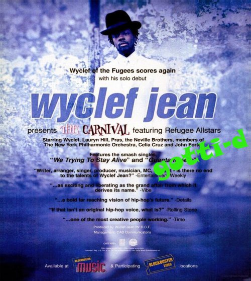 Wyclef Jean Featuring Refugee Camp All Stars Refugee Allstars The Carnival