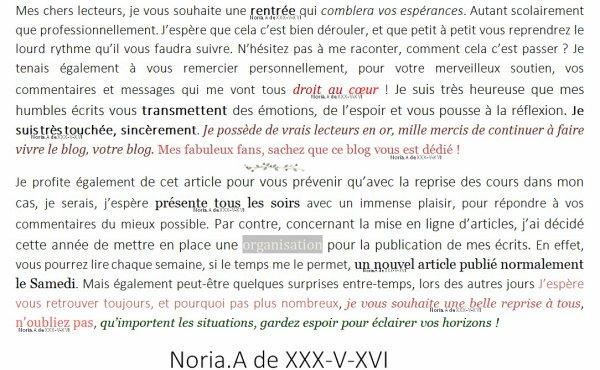 [ Informations ] Tout ce trouve ci-dessous, des questions ? N'h�sitez pas ! - Noria.A de XXX-V-XVI