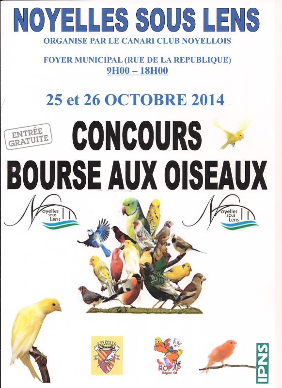 concours 2014 Noyelles sous lens dernier d�lai  inscription le 12/10/2014