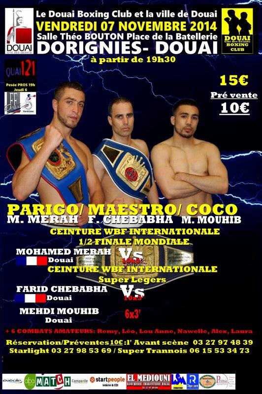 gala de boxe le 7 novembre a dorignies
