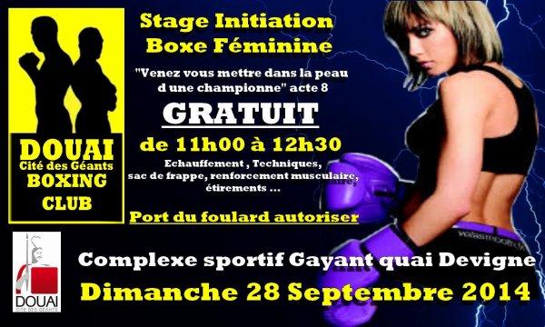 stage initiation boxe feminine GRATUIT le 28 septembre RDvous a 10h45