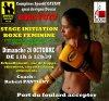 stage initiation boxe f�minine GRATUIT le 26 octobre RDvous a 10h45