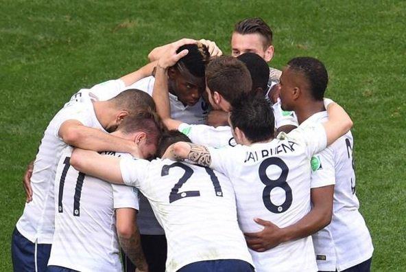 L'Equipe de France en quart de finale