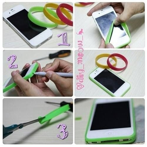 Diy créé ta coque de portable en silicone avec un bracelet !
