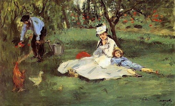 1874 la famille monet au jardin par edouard manet for Au jardin de la famille de fabreville