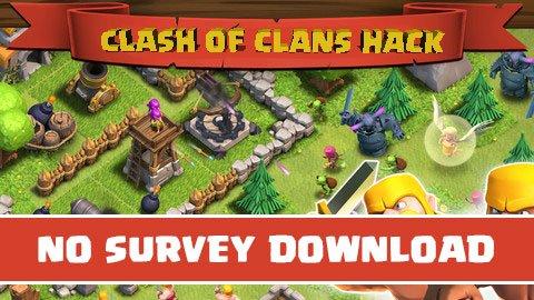 Clash of clans hack no survey download clash of clans hack no survey