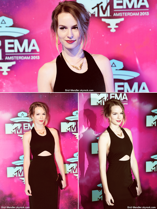 10 Novembre 2013 | Bridgit �tait � la c�r�monie des Europe Music Awards � Amsterdam