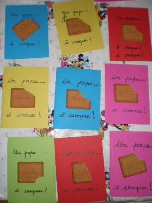 F te des p res id es pour le pr scolaire - Carte fete des peres maternelle ...