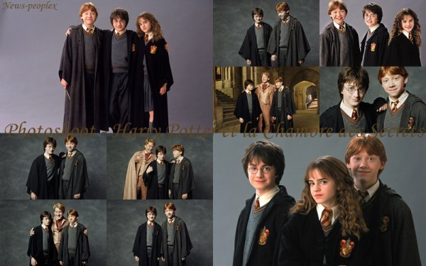 Flash back photoshoot pour harry potter et la chambre - Harry potter la chambre des secrets ...