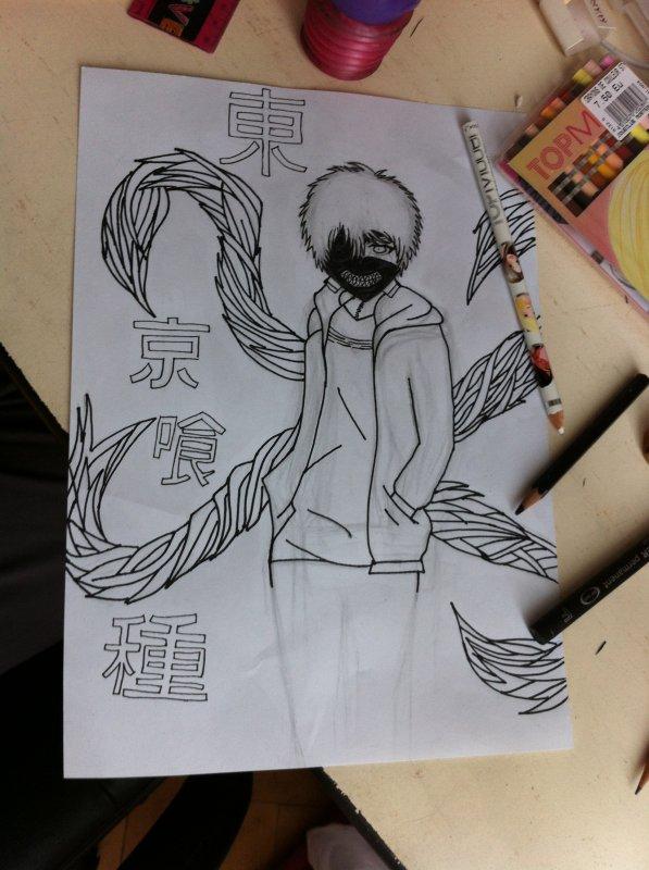 comment dessiner kaneki