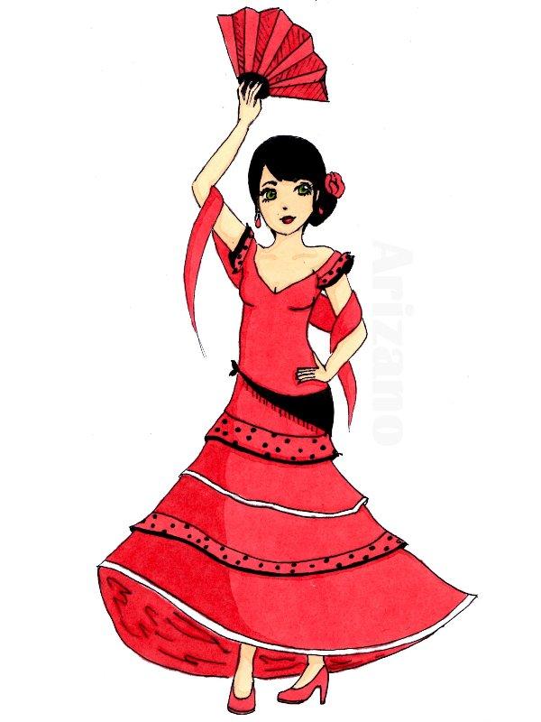 Mon dessin flamenco d arizano dessiner cr er imaginer - Danseuse flamenco dessin ...