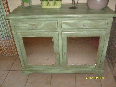 meuble peint vert gris images. Black Bedroom Furniture Sets. Home Design Ideas