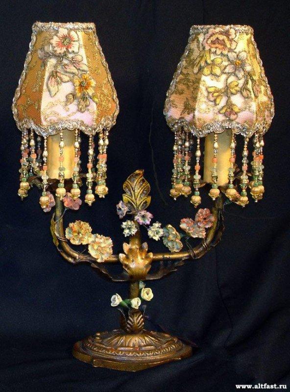 Uniques et originales...toutes ces lampes brod�es (l)