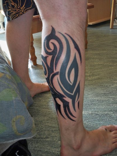 Tribal mollet la passion du tatouage - Tattoo mollet homme ...
