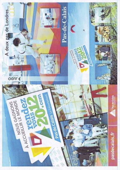 """ETAPLES JUDO....La plaquette  de promotion """"Pasdecalais2012"""" du CG 62  est  sortie"""